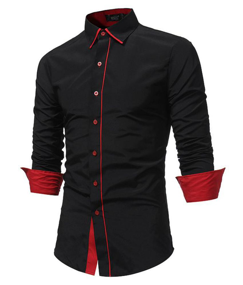 Stylish Patchwork Standard Cuff Business Cotton Long Sleeve Shirts for Men