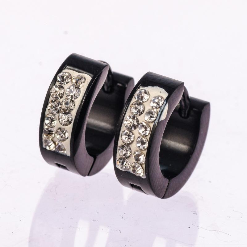 Stainless steel titanium ms.man ear nail anti allergy Earrings Ear Ring