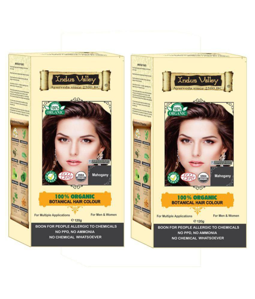 Indus Valley Hair Fibers Mahogany 120 g Pack of 2