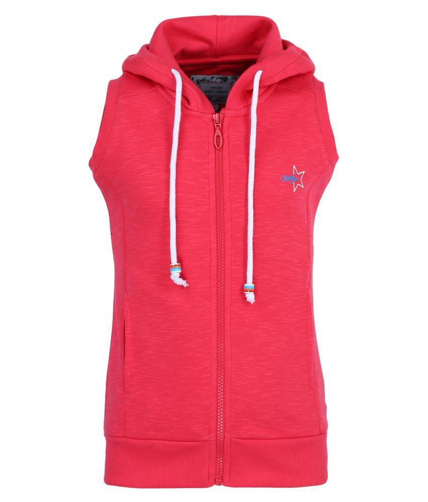 Monte Carlo Pink Solid Cotton Hood Sweatshirts