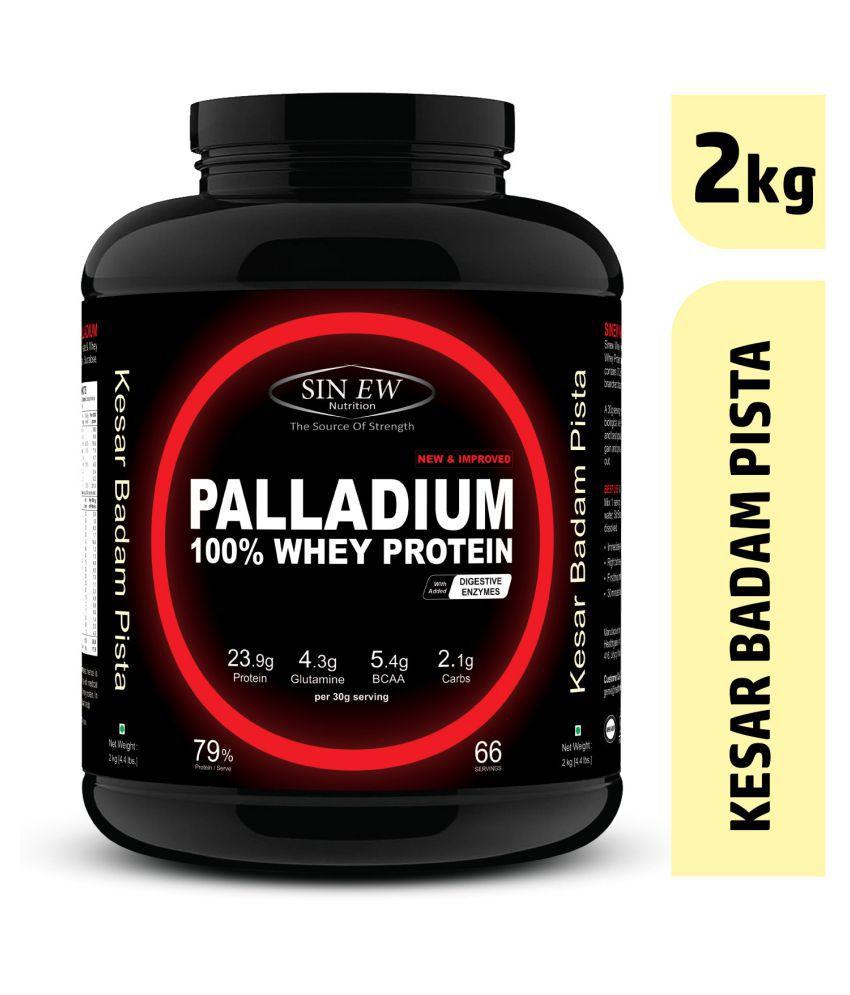 Sinew Nutrition Palladium Whey Protein (Kesar Pista Badam) 2 kg