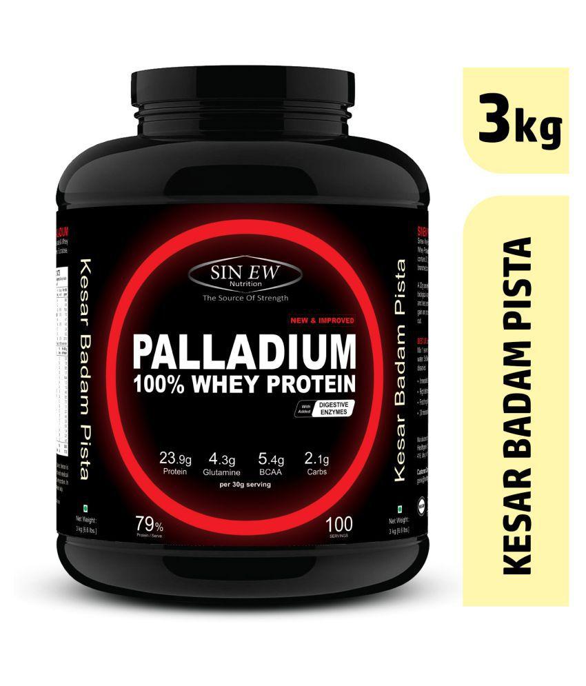 Sinew Nutrition Palladium Whey Protein (Kesar Pista Badam) 3 kg