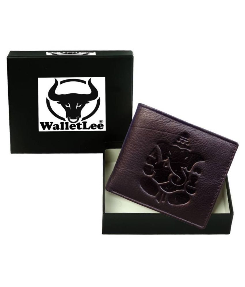 WalletLee Leather Brown Casual Money Clipper