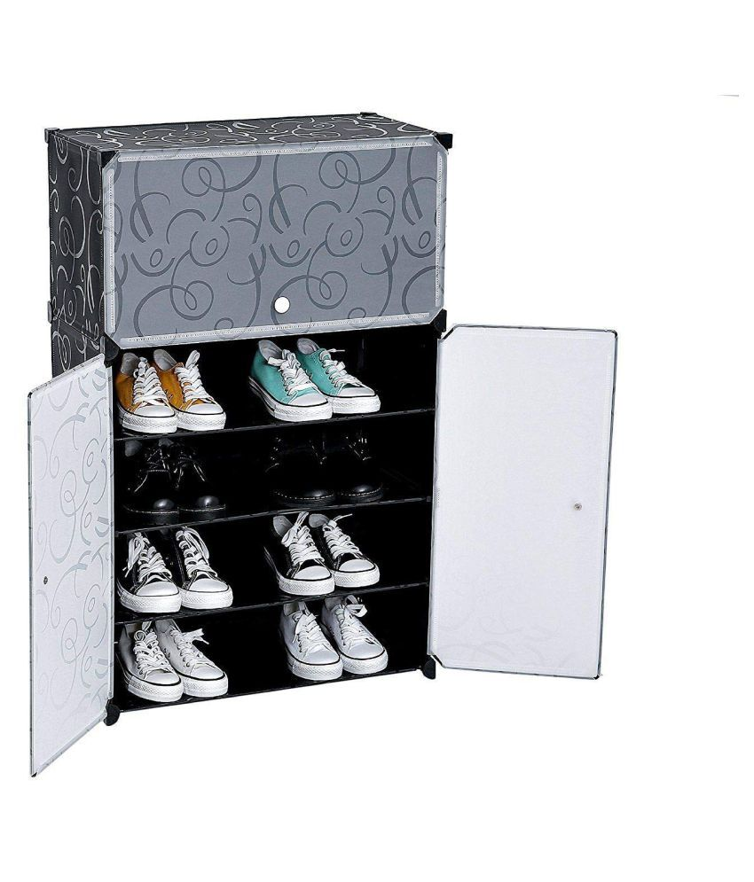plastic shoe cabinet storage organizer with 3 doors buy online at rh snapdeal com