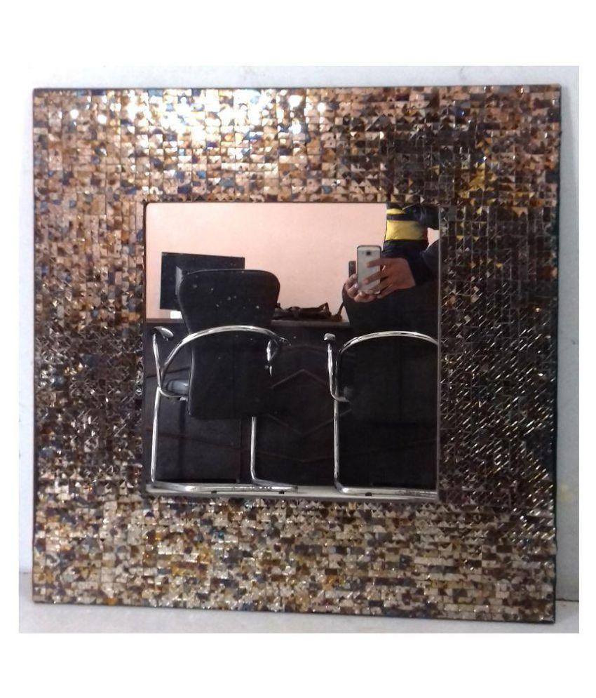 DESIGN INC Mirror Wall Mirror Multi ( 76 x 76 cms ) - Pack of 1