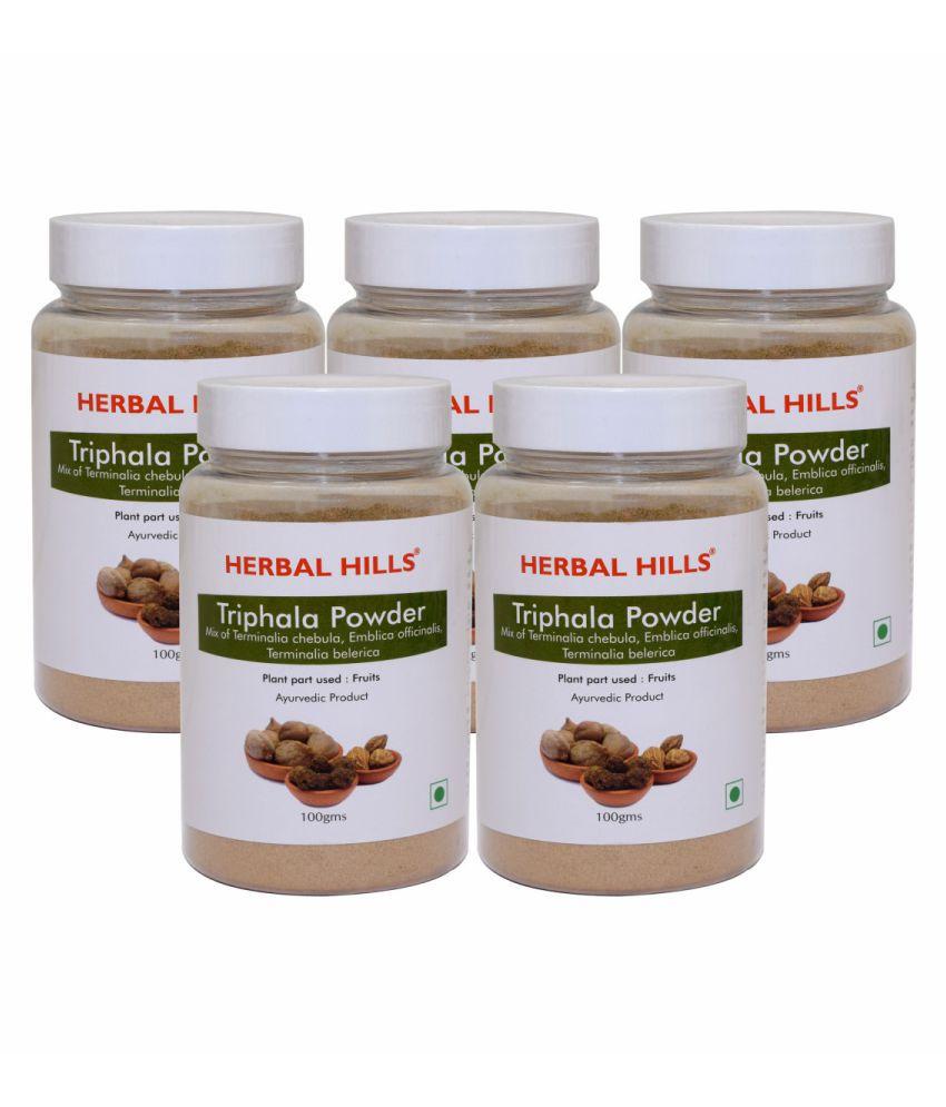 Herbal Hills Triphala  Powder 100 gm Pack of 5