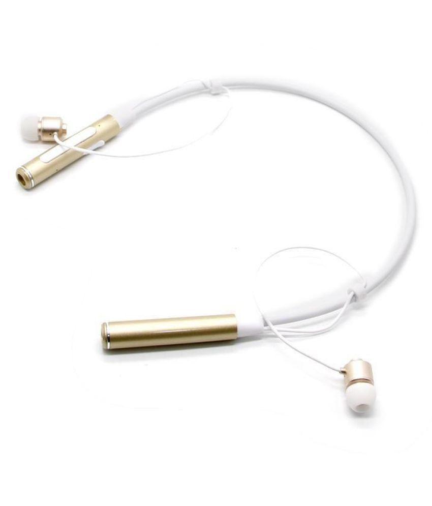 Meckwell BT-770-SUPERIOR NECKBAND Bluetooth Headset - Golden
