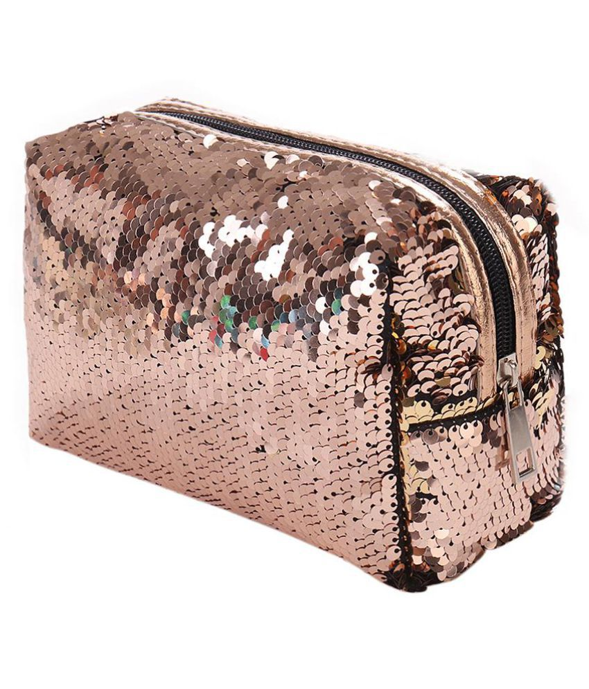 Fashion Sequin Women Travel Household Cosmetic Bag Large Capacity Container