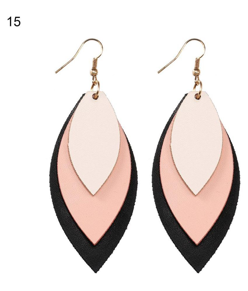 Fashion Three Pieces Stitching Hook Earrings Women Club Jewelry Marquise Eardrop