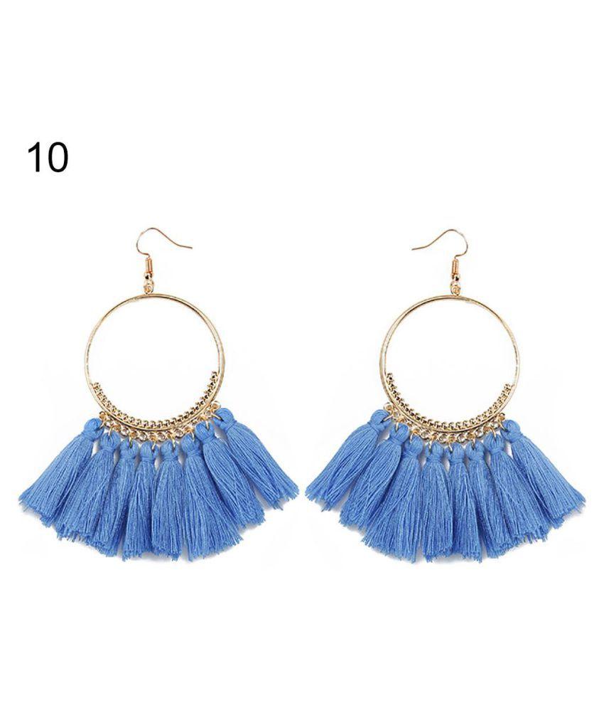 Fashion Bohemia Hook Earrings Women Dangle Tassel Drop Jewelry Party Gift