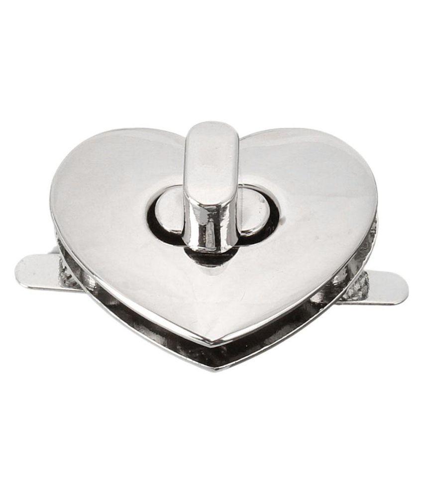 DIY Handbag Bag Hardware Alloy Buckles Heart Shape Clasp Turn Lock Twist MENTAL