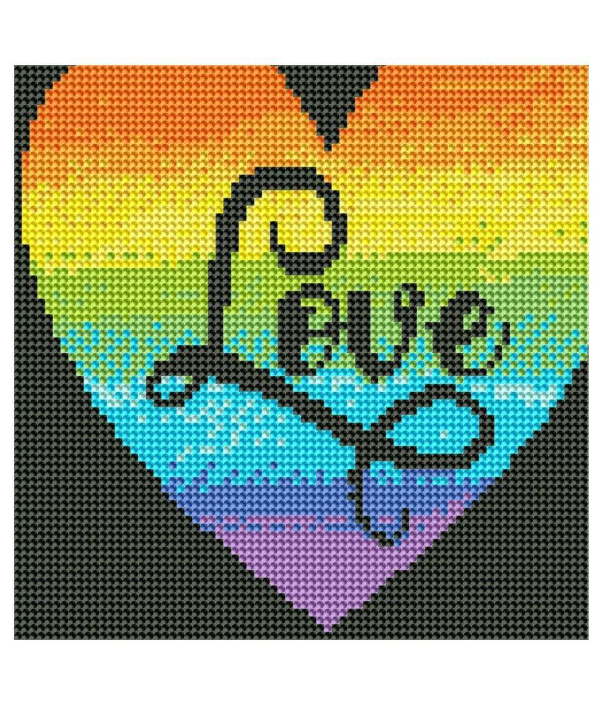 5D DIY Full Drill Diamond Painting Love Cross Stitch Embroidery Mosaic Kit Decor