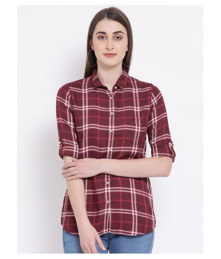 Crimsoune Club Maroon Cotton Shirt