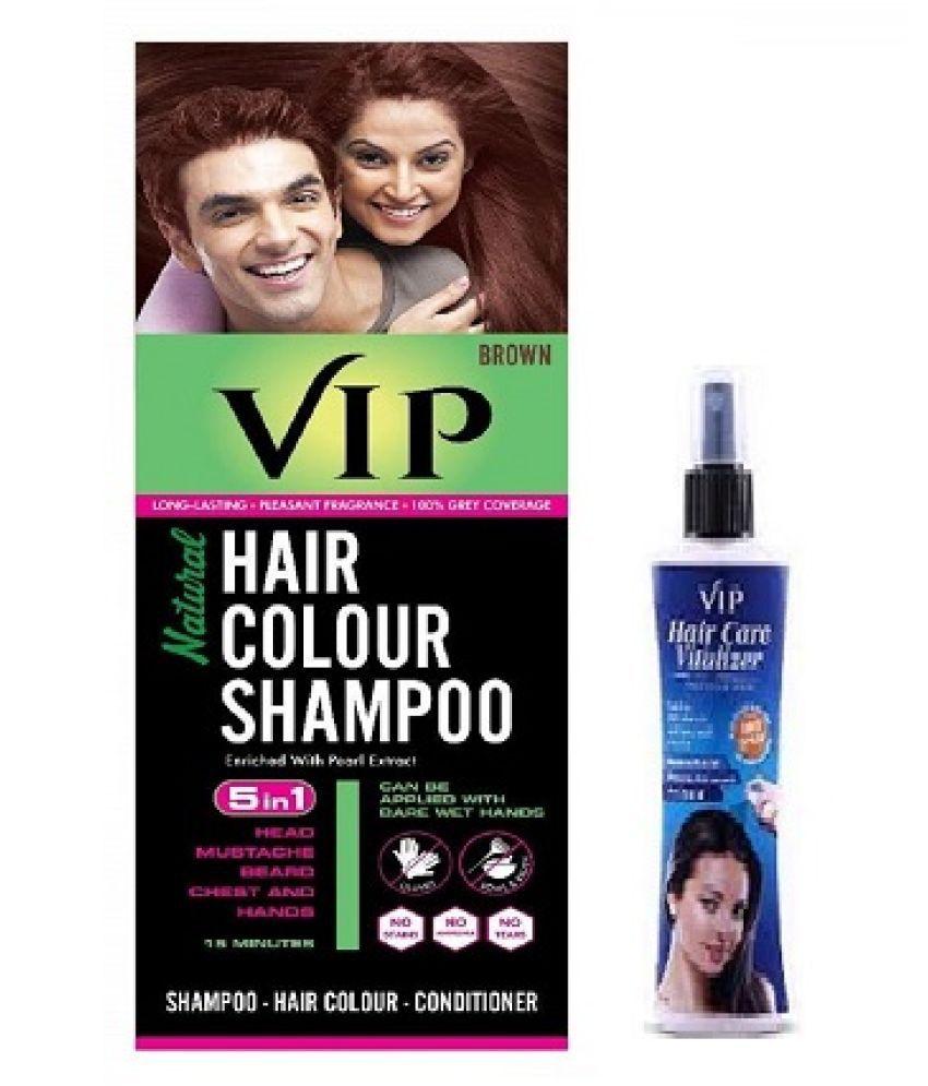 VIP Hair Color Permanent Hair Color Brown 180 mL