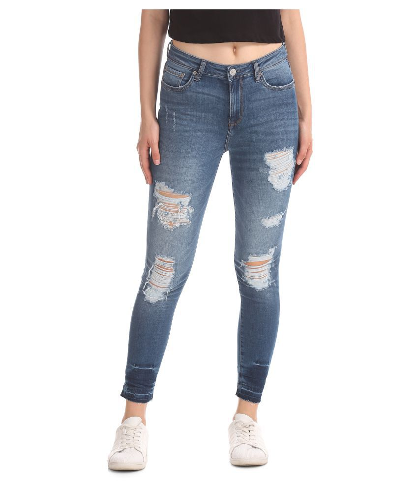 Aeropostale Cotton Jeans - Blue