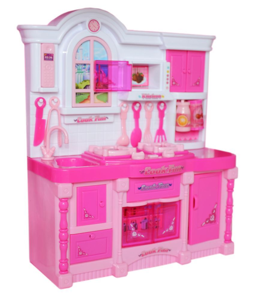 Planet Of Toys Kitchen Playset For Girls With Light And Sounds Pretend Play Toys For Kids Pink Buy Planet Of Toys Kitchen Playset For Girls With Light And