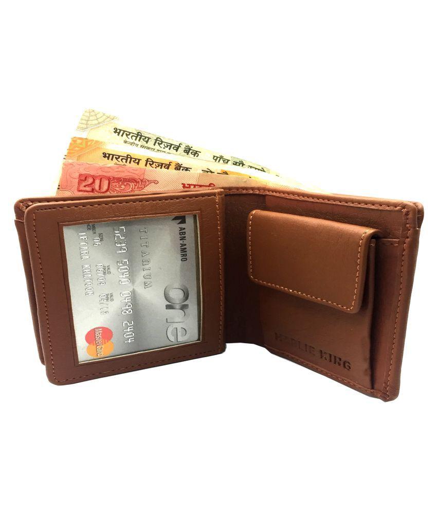 HARLIE KING Leather Tan Casual Regular Wallet