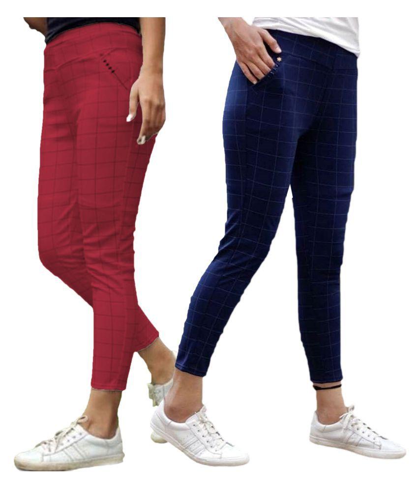 Trusha Dresses Cotton Lycra Jeggings - Multi Color