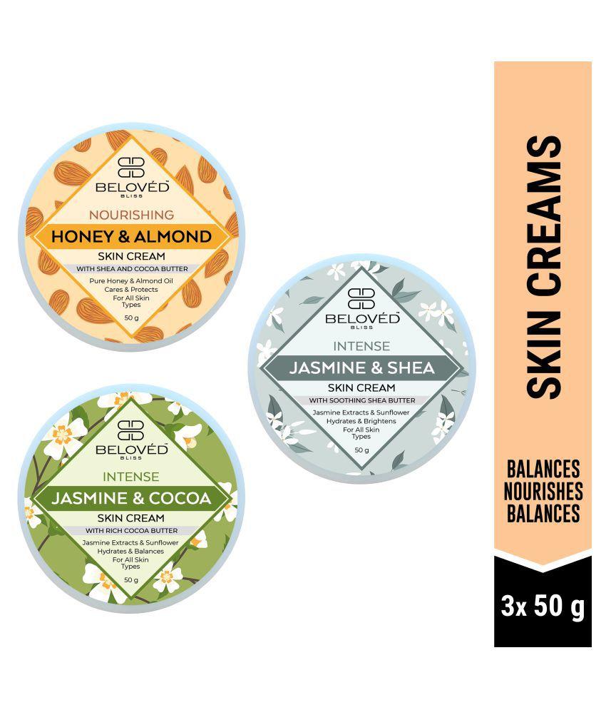 Beloved Bliss Skin Whitening Honey & Almond, Cocoa, Shea Moisturizer 50 gm Pack of 3