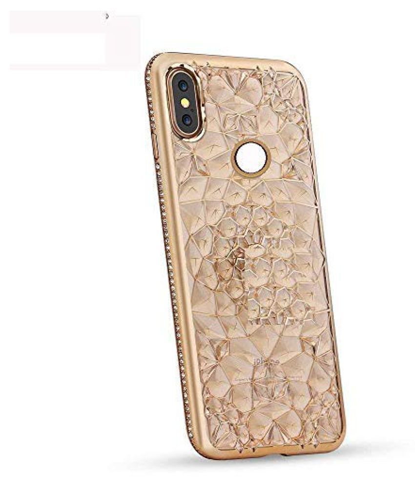 Vivo Y17 3D Back Covers By Vivo Y17 3D Glitter Case Plating Flower case