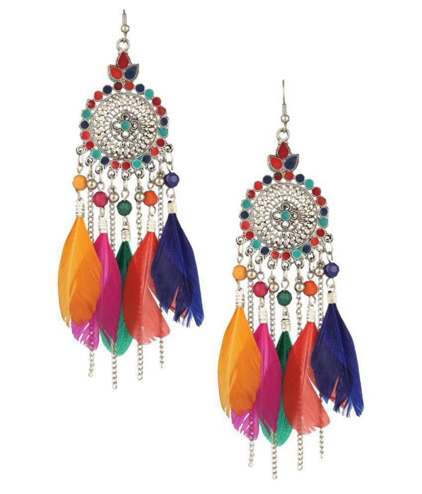 Darshini Designs Multicolour Bohemian party wear earring For Girls and Women