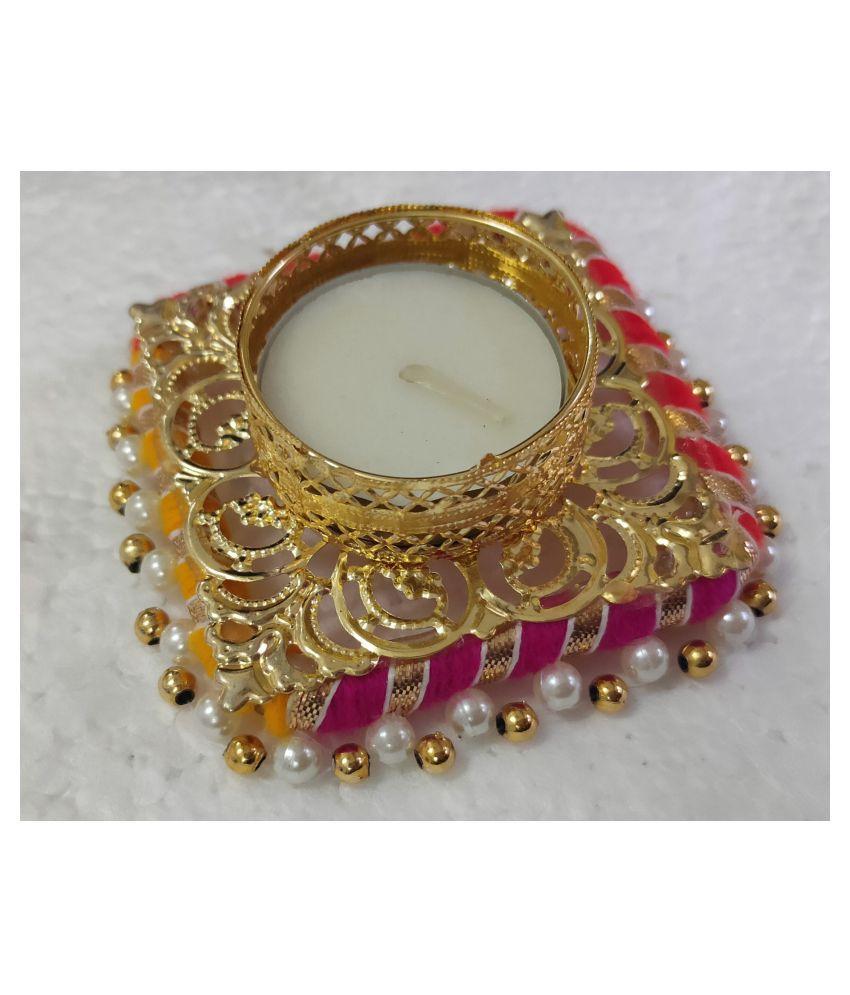 Joya creation Acrylic Diwali Diya - Pack of 2