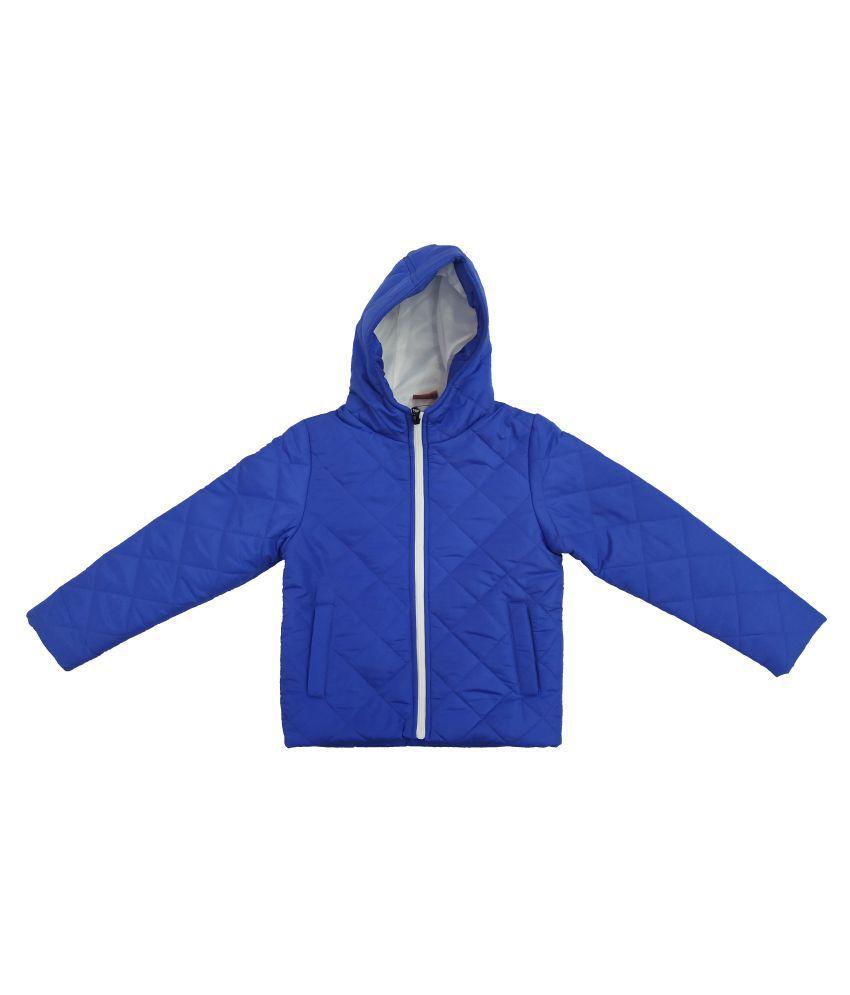 Kids-17 Boys Fulslleeves Hooded Winter Pollyfill Jacket