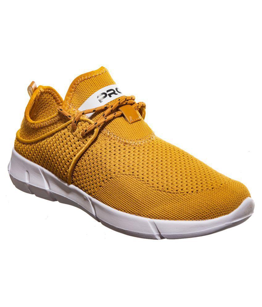 Khadim's Sneakers Yellow Casual Shoes