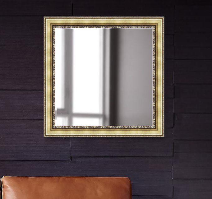 Elegant Arts & Frames Mirror Wall Mirror ( 76 x 76 cms ) - Pack of 1