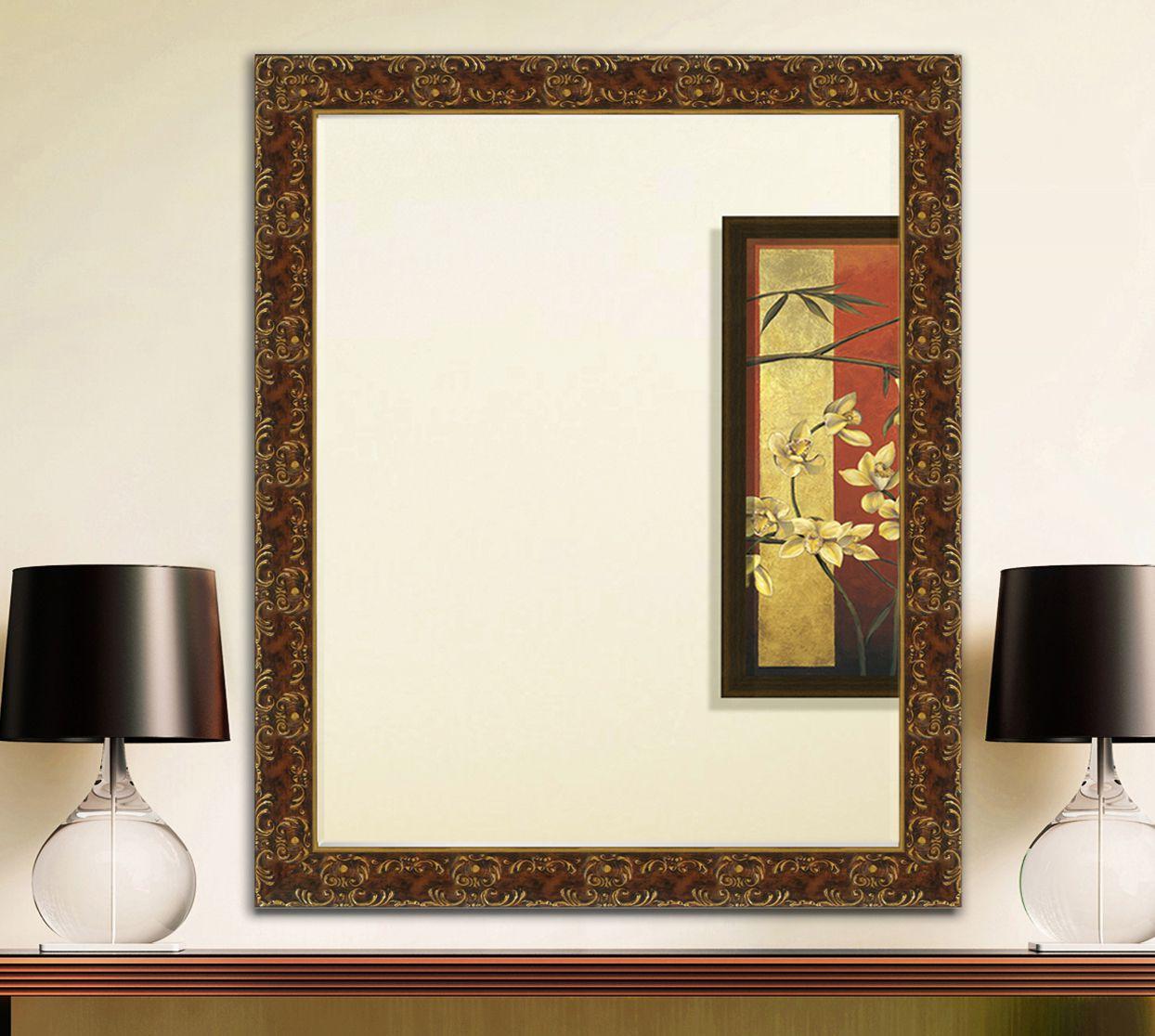Elegant Arts & Frames Mirror Wall Mirror ( 91 x 121 cms ) - Pack of 1