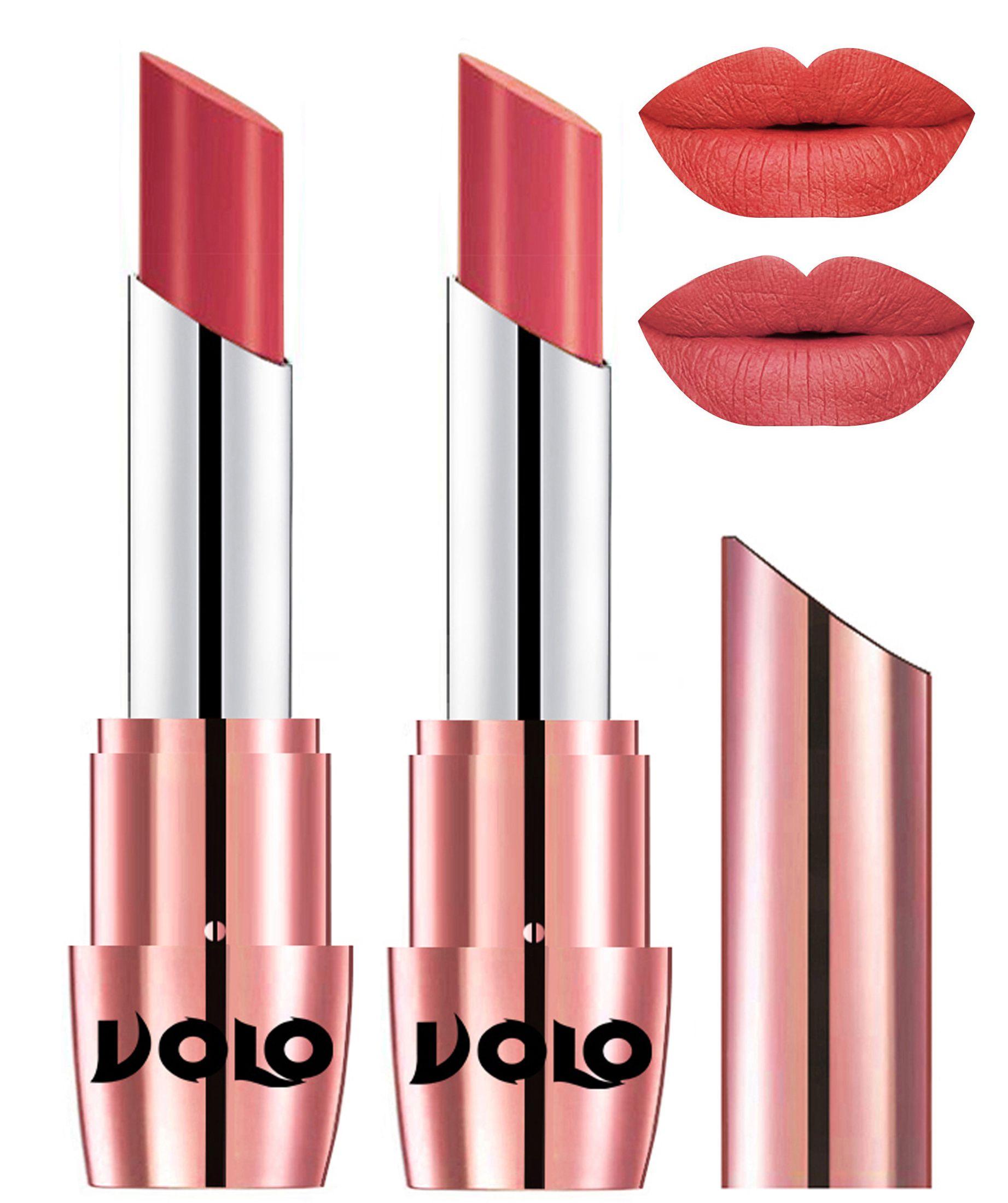 VOLO Perfect Creamy with Matte Lipstick Peach Peach Pack of 2 7 g