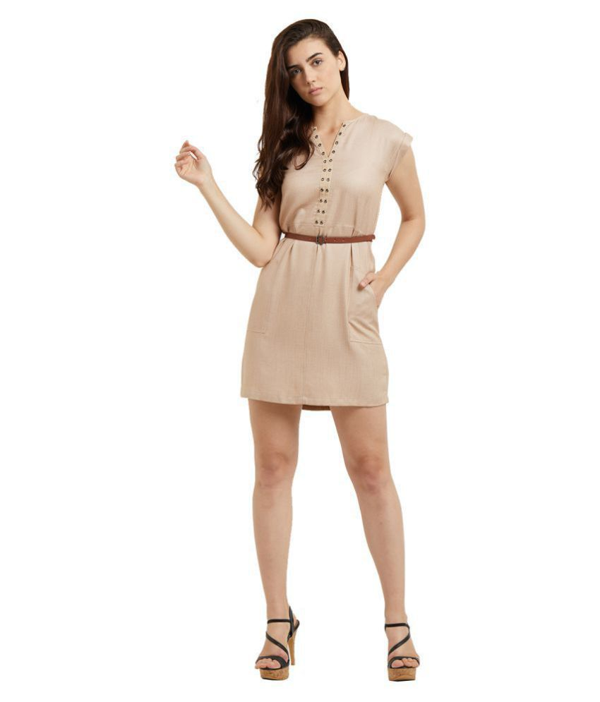109 F Viscose Beige Regular Dress