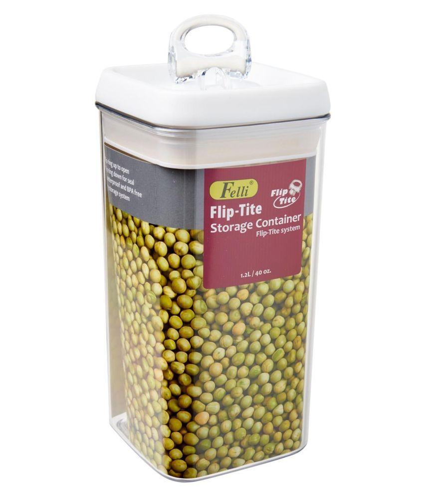 FELLI Flip-Tite BPA Free Acrylic Dal Container Set of 1 1200 mL