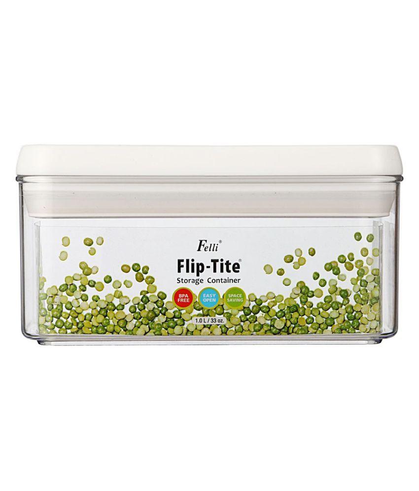 FELLI Flip-Tite BPA Free Acrylic Dal Container Set of 1 1000 mL