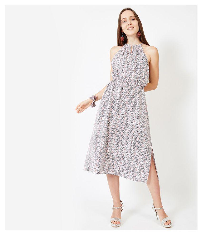 Oxolloxo Viscose Multi Color A- line Dress