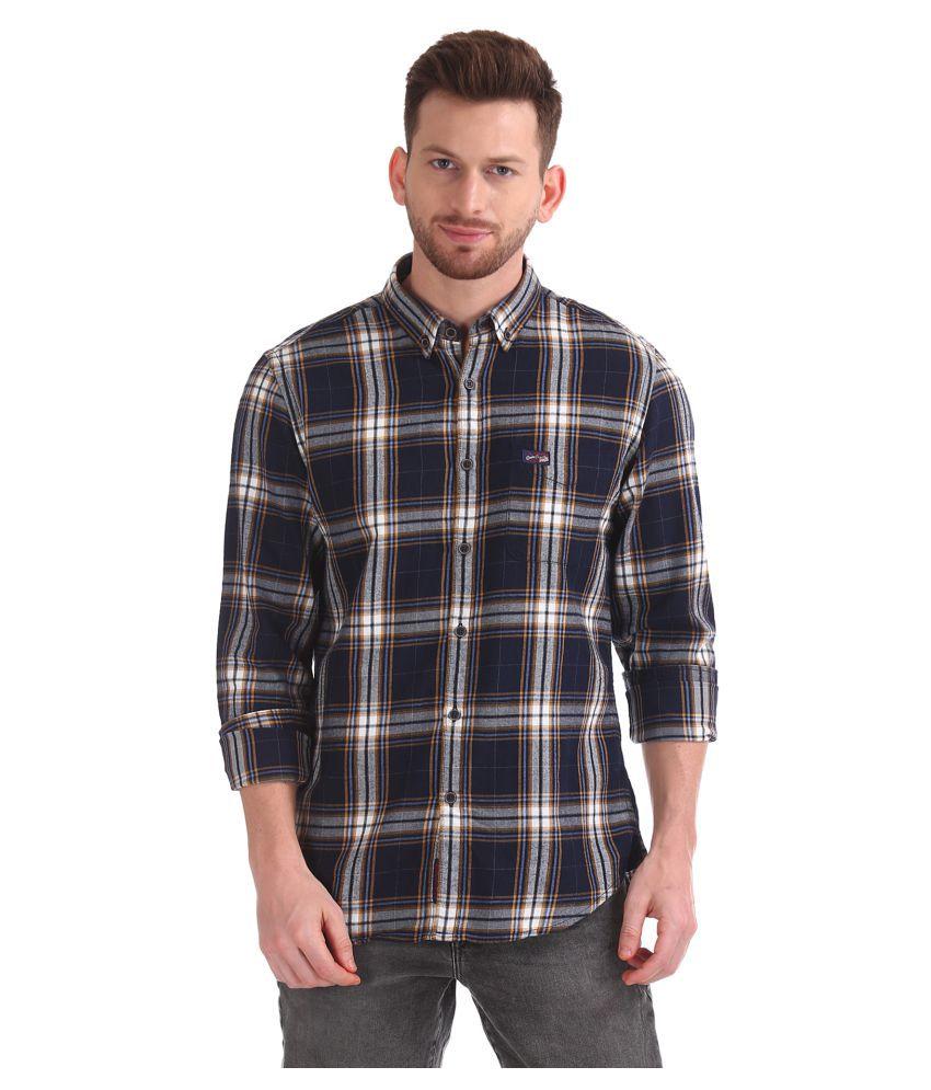 U.S. Polo Assn. 100 Percent Cotton Blue Checks Shirt