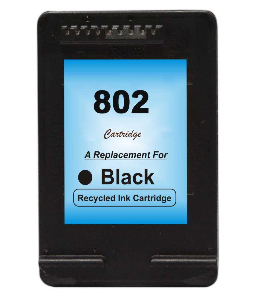 RPS 802 Black Pack of 1 Cartridge for HP printer deskjet 1000 1010 1011 1050 1510 1511 2000