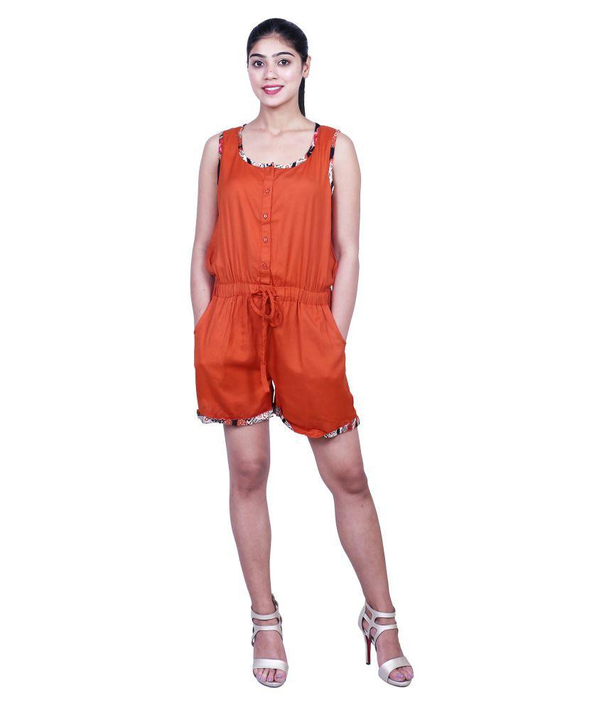 GOODWILL Orange Rayon Jumpsuit