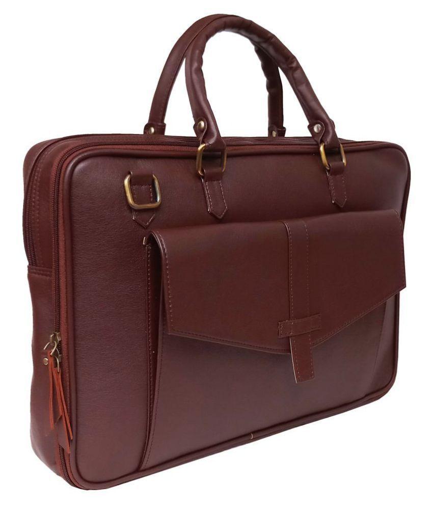 Cosykart New Style Brown P.U. Office Bag