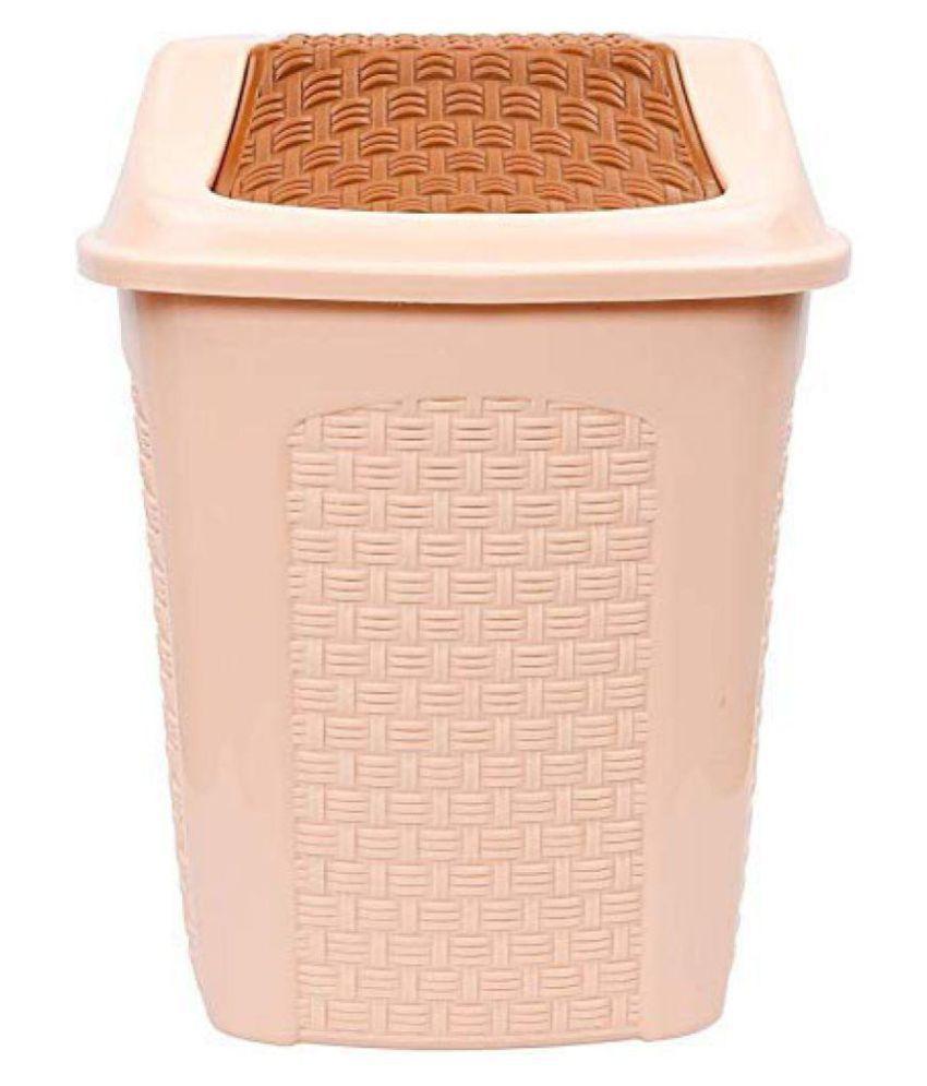 HAZZLEWOOD ABS Plastic dustbin Multicolour Capacity (6L) Pack of 1