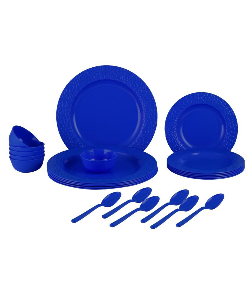 Homray Stone Plastic Dinner Set of 24 Pieces