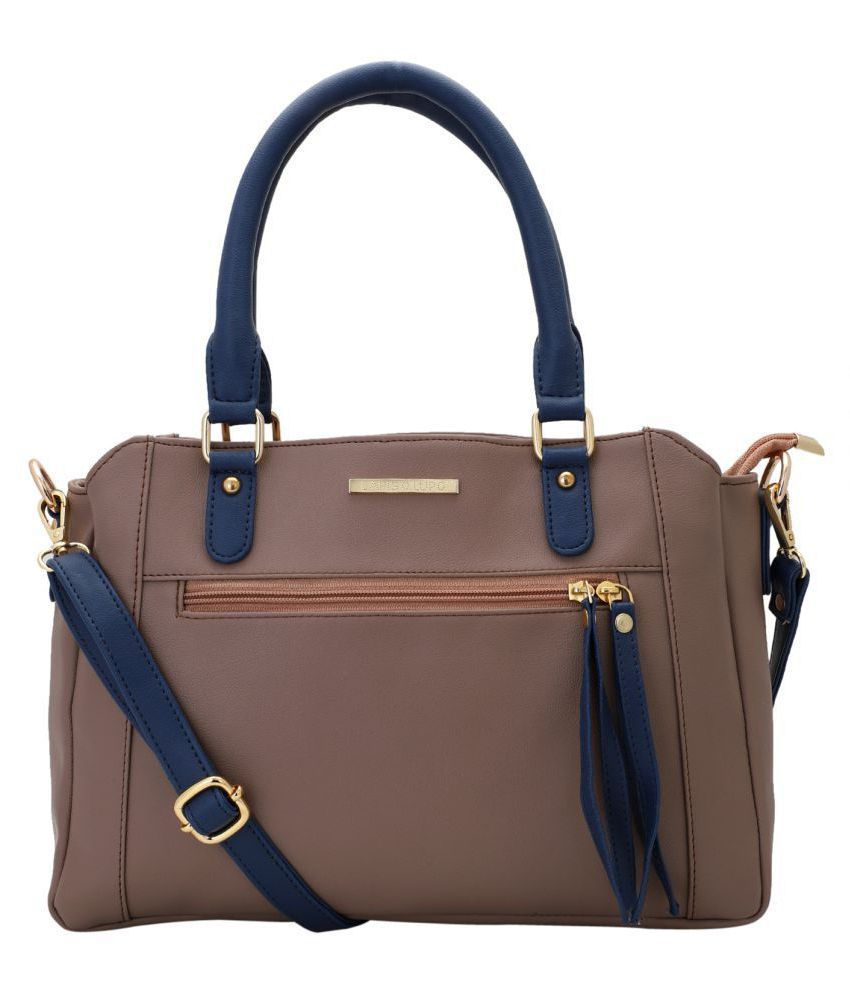 Lapis O Lupo Peach Faux Leather Handheld