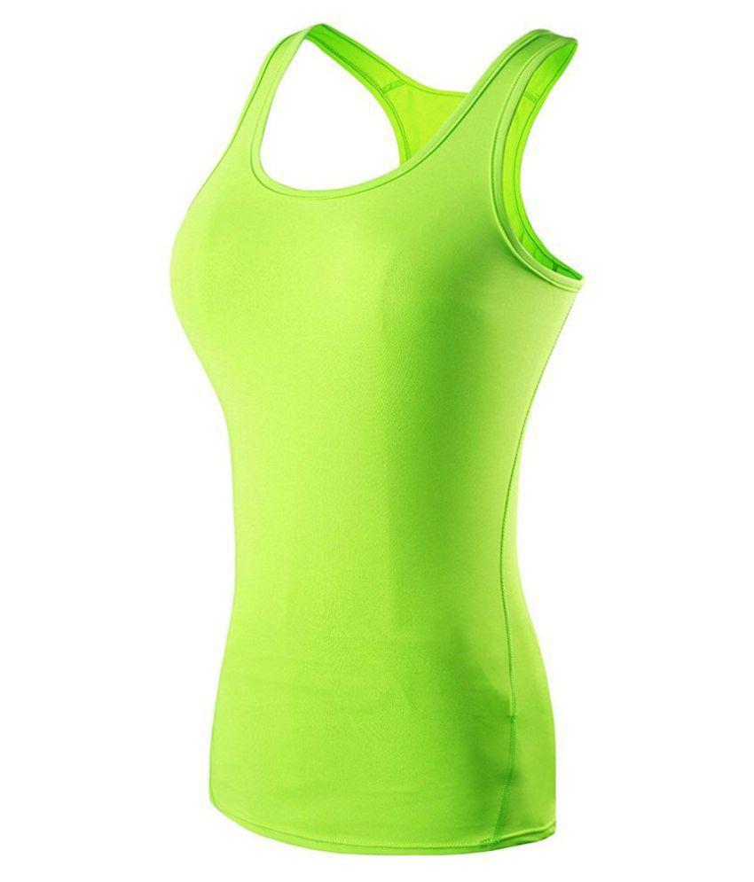 THE BLAZZE Cotton Lycra Camisoles - Green