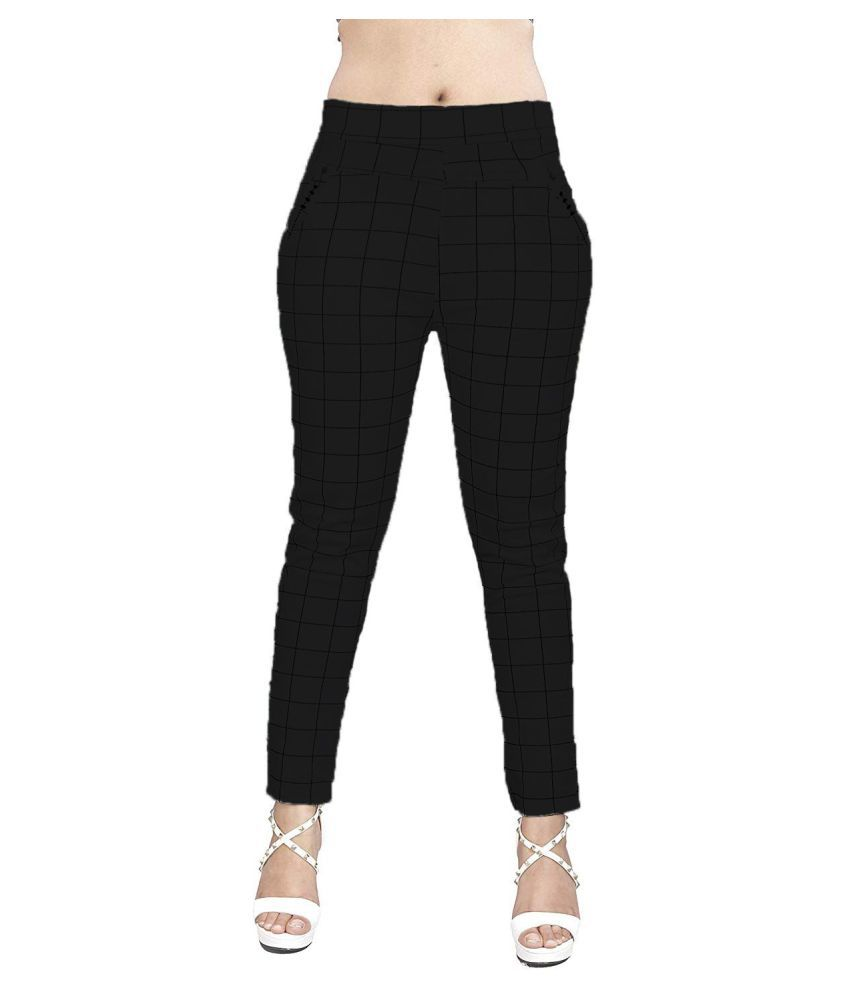 Trusha Dresses Cotton Lycra Jeggings - Black