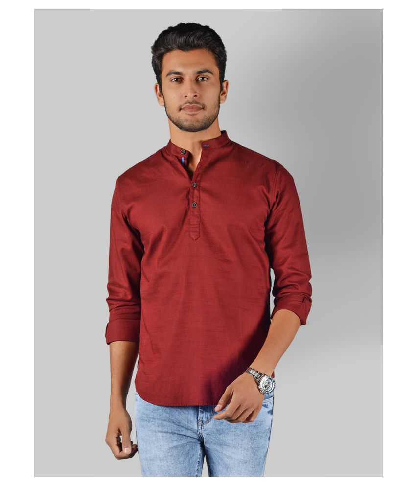 JadeBlue 100 Percent Cotton Red Solids Shirt