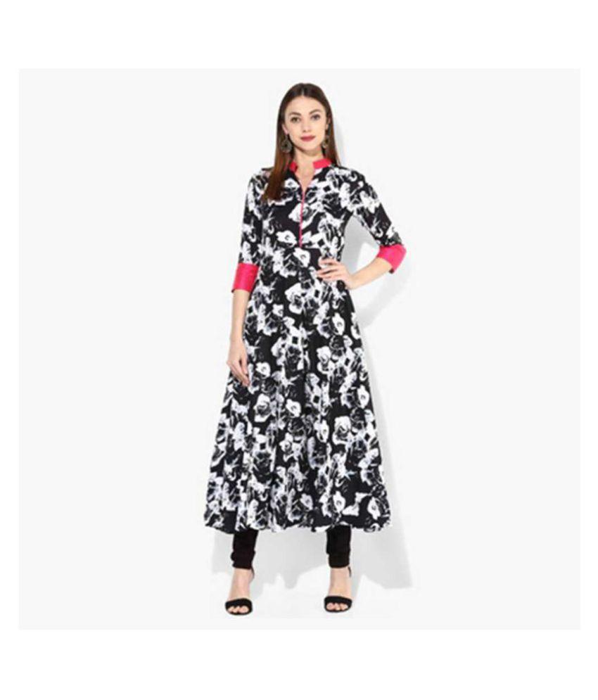 shree wow Crepe Black Regular Dress