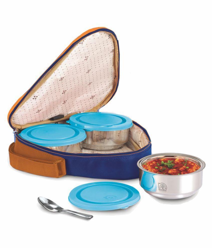 NanoNine Blue Stainless Steel Lunch Box