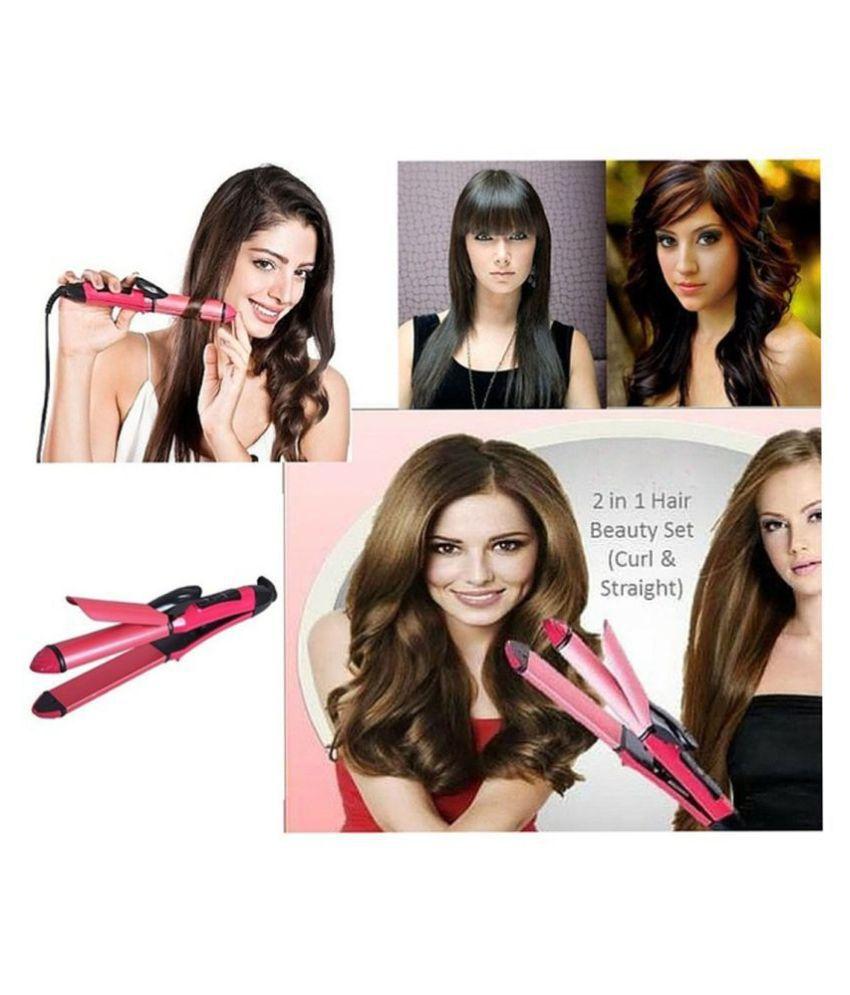 Skycandle Bentag 2 in 1  Hair Straightener ( Pink )