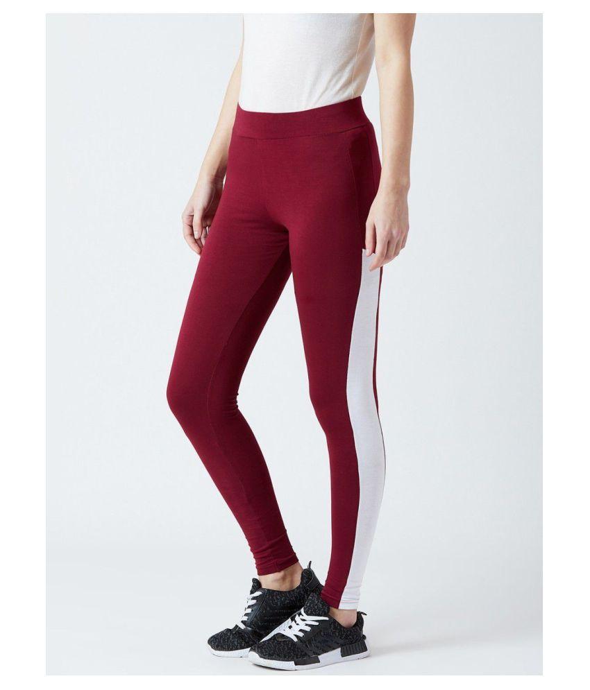 Bombay Clothing Company Cotton Lycra Jeggings - Maroon