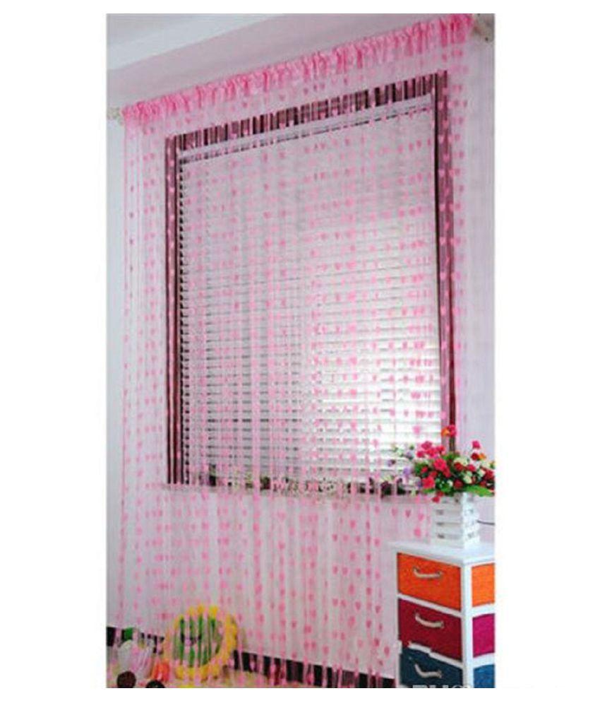 New panipat textile zone Single Door Heart String Curtain